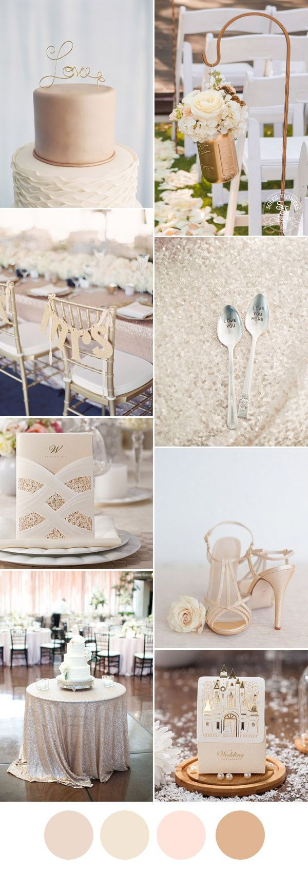 elegant champagne and ivory wedding color inspiration