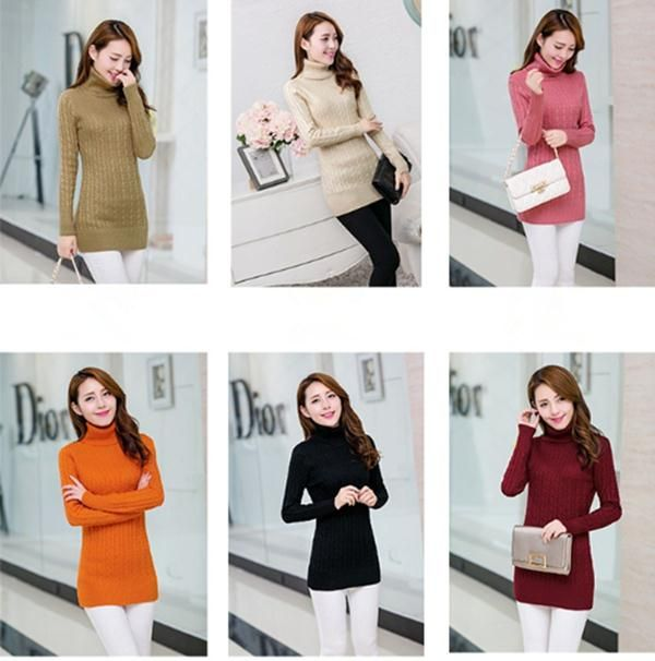 Find More Pullovers Information about Women Lady Girl's Sweaters Long Warm Knitwear Jacket Coat Outwear Casual Cute Knitted Turtleneck High Collar Pullovers Sweaters,High Quality pullover dress,China sweater boy Suppliers, Cheap sweater machine from RUBY TOP 3 on Aliexpress.com