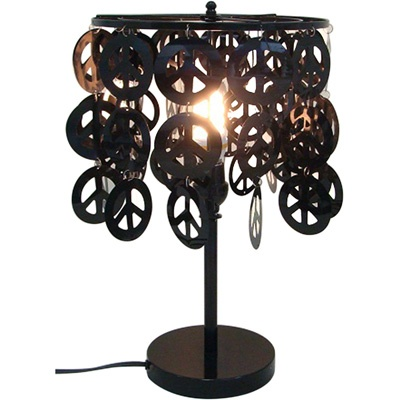 30 best lamps images on pinterest light fixtures lights and craft peace sign disc shade table lamp aloadofball Gallery