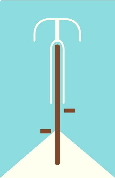 Babb. Category: Image Based. LA bike safety campaign poster. Simple, clean, reads as a bicycle. Does it encourage me to consider bike safety? Maybe not so much... while the bold triangle at the bottom draws me in, the brown really stands out, and I don't hate the design, I probably wouldn't look too deeply into this one...