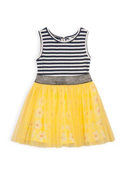 Pumpkin Patch - dresses - daisy dress - S4TG80028 - sun glow - 12-18m to 6 beautiful bright dress with that little bit of fun tulle  #DearPumpkinPatch