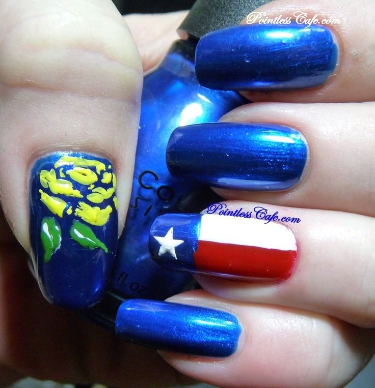 30 Day Challenge Day 28 - FLAG INSPIRATION - Texas Flag and Yellow Rose of Texas | Pointless Cafe