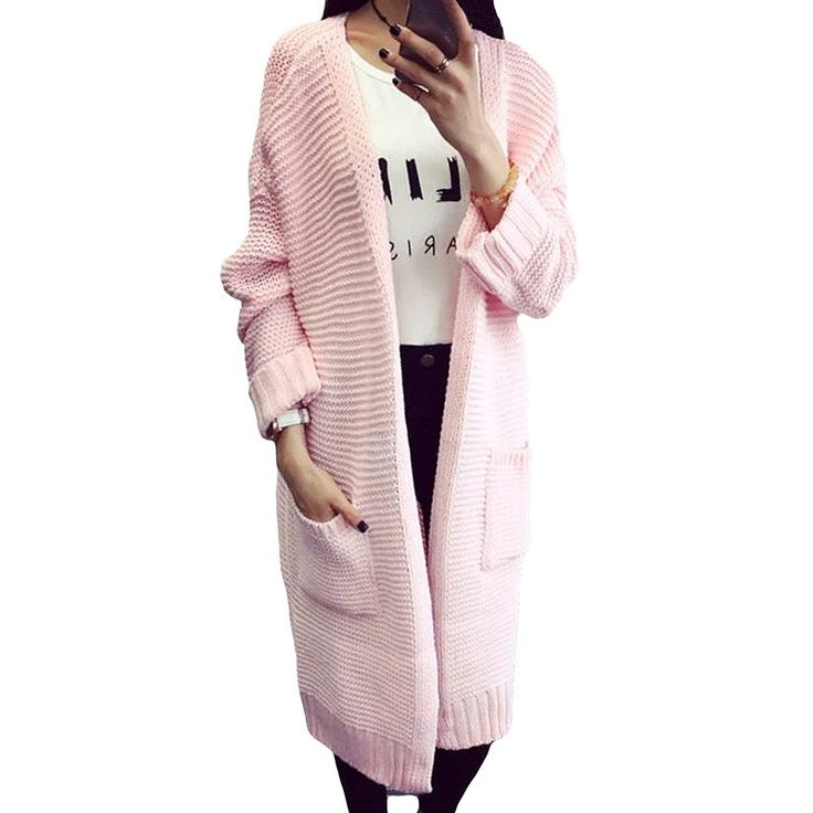 Hot Seller 2017 New Autumn Winter Women Cardigans Sweater Vintage Long Sweater Coat V-Neck Open Stitch Thin Women Sweater YP0305  #instastyle #pretty #styles #iwant #cute #cool #glam #shopping #fashionista #instalike