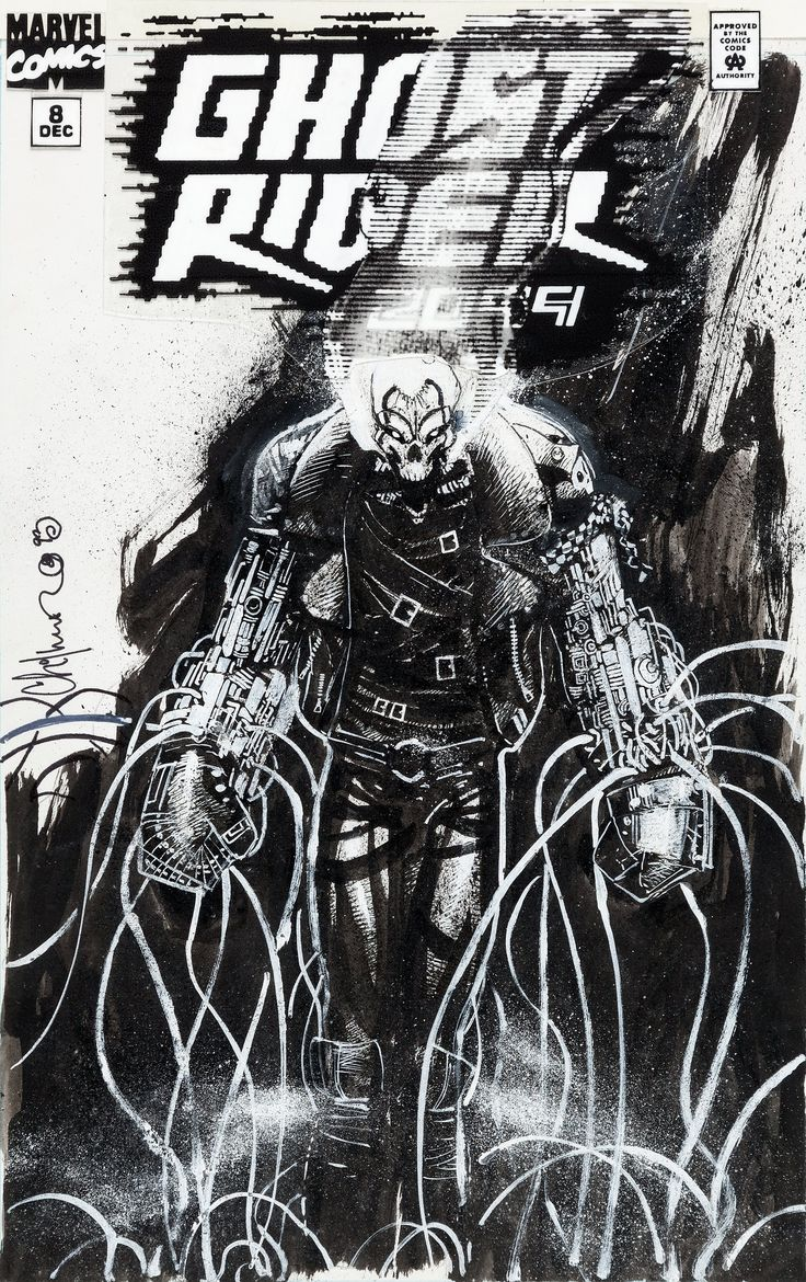 Chris Bachalo Ghost Rider 2099 #8 Cover Original Art (Marvel, | Lot #94120 | Heritage Auctions