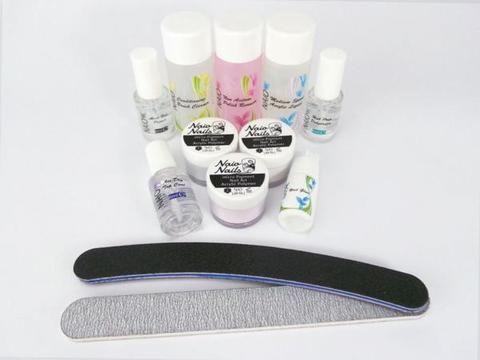 Acrylic Nail Starter Kit B + Maximum Adhesion Acrylic Liquid - Naio Nails