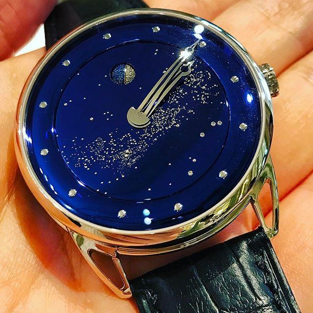 Actually original Milky Way design by Watchlovers ✨ deep blue space with Milky way and diamonds moon🌓#watchlover #watchmania #watchparty #watchfam #horlogerie #horology #gmt #orologio #privatejet #db25 #chronograph #instawatch #instapic #orologi #geneva #uhren #tourbillon #swiss #montres #chronos #luxury  #debethune #milkyway #moon