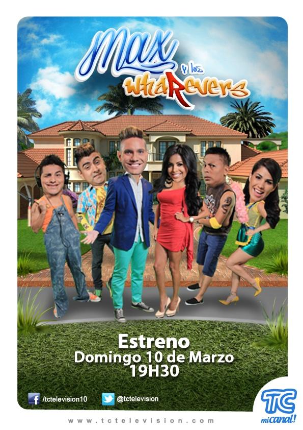 Desde este domingo a las 19H30 Max y los whaRevers por TC Mi Canal. http://www.tctelevision.com/maxyloswharevers