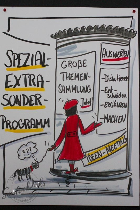Mini - Flipchartkurs Frau in Rot mit Hund https://sandra-dirks.de/mini-flipchartkurs-frau-in-rot-mit-hund/