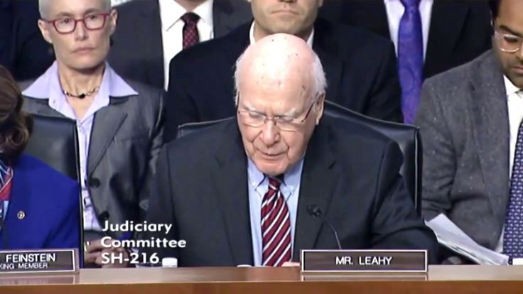 Patrick Leahy & Jeff Sessions at The Senate Judiciary Committee October ...