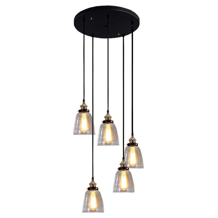Warehouse of Tiffany Euna Adjustable Cord Edison LD-4025-5 Pendant Light   from hayneedle.com