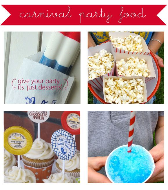 Handmade summer carnival party treats from @debra gaines Norton for Oh My! Handmade