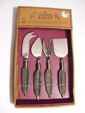 The Global Market Handcrafted In INDIA (Set Of 4) Kitchen Serving Utensils Kit 4