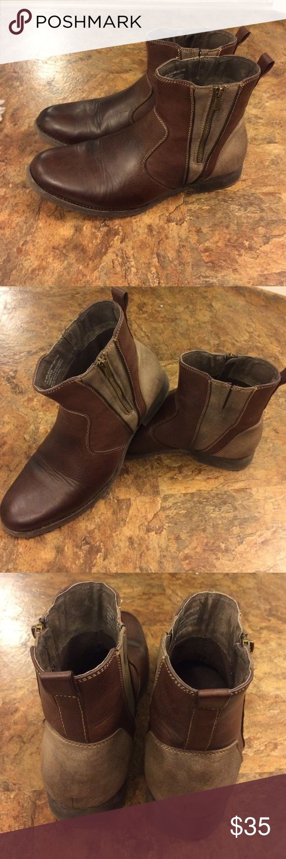 Steve Madden men's ankle boots zip up Handsome brown size 12 men's Madden ankle boots. Steve Madden Shoes Boots