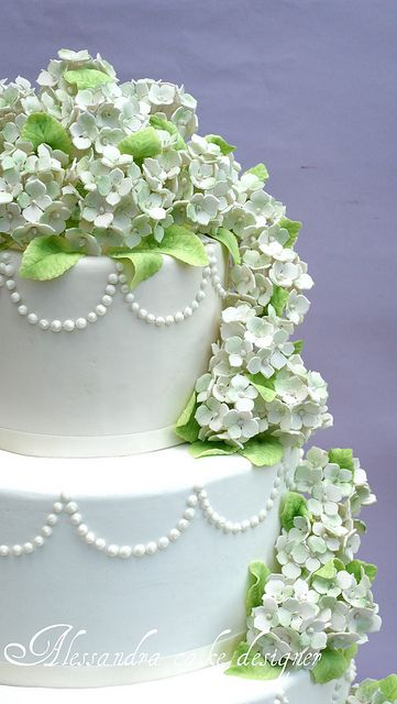 Hydrangea cake by Alessandra Cake Designer