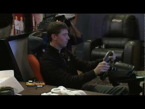 Denny Hamlin on Nascar Simulator