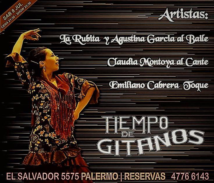 Llega este Sábado el show de La Rubita y Agustina García al baile, Claudia Montoya al cante y Emiliano Cabrera  toque. Ya podes reservar al 4776 6143