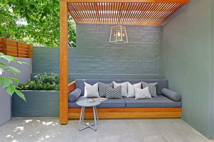 Private courtyard to Micro hotel suite. The Parkhouse. Cape Town