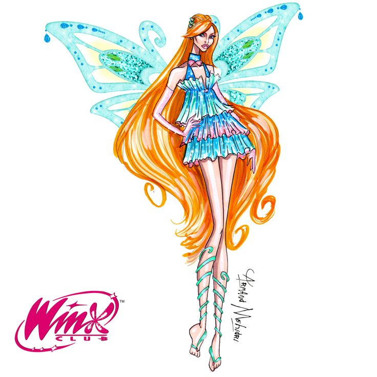 Bloom winx club by armand mehidri fashion sketches - Bloom dessin anime ...