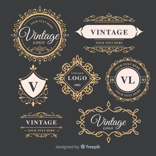 Lade Vintage Ornamentale Logos Sammlung Vorlage Kostenlos Herunter In 2020 Vintage Logo Logo Ideen Vorlagen