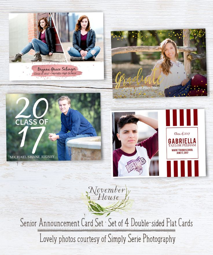 Senior Graduation Templates Set of 4 Graduation Card