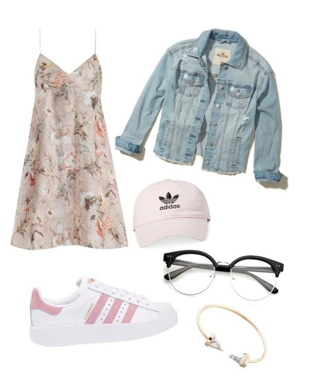 """""""Casual look"""" by surabikiki ❤ liked on Polyvore featuring Hollister Co., Zimmermann, adidas Originals and adidas"""