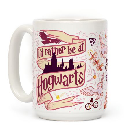 I'd Rather Be At Hogwarts Mug $19.00