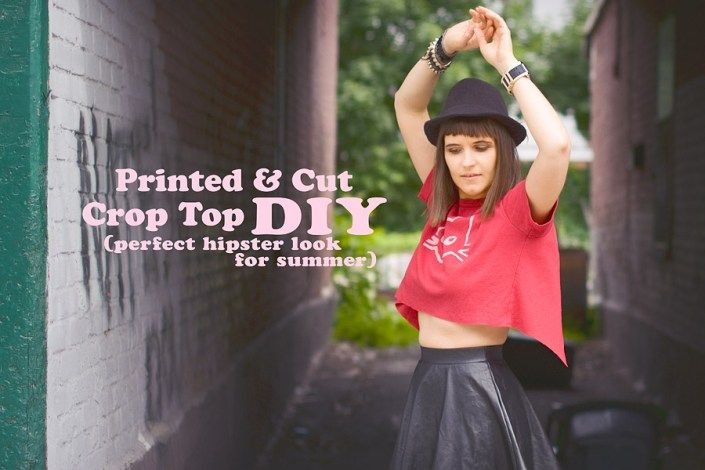 Hand Printed Open Back Crop Top DIY: How To Make a Perfect Summer Hipster Look