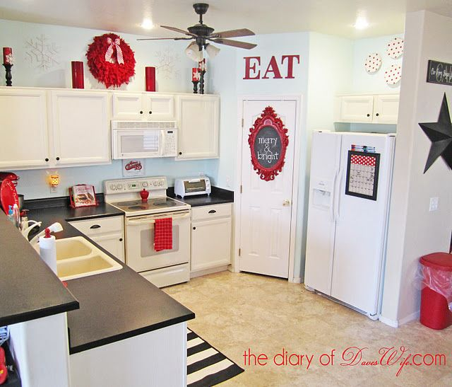 Red Accent Kitchen Decor Home Design Ideas - Grey and red kitchen ideas