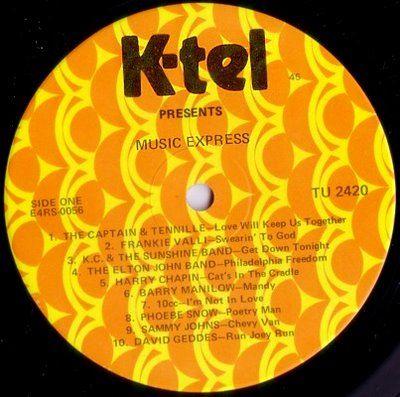 K Tel Records 70s Nostalgia Pinterest Chevy My Mom