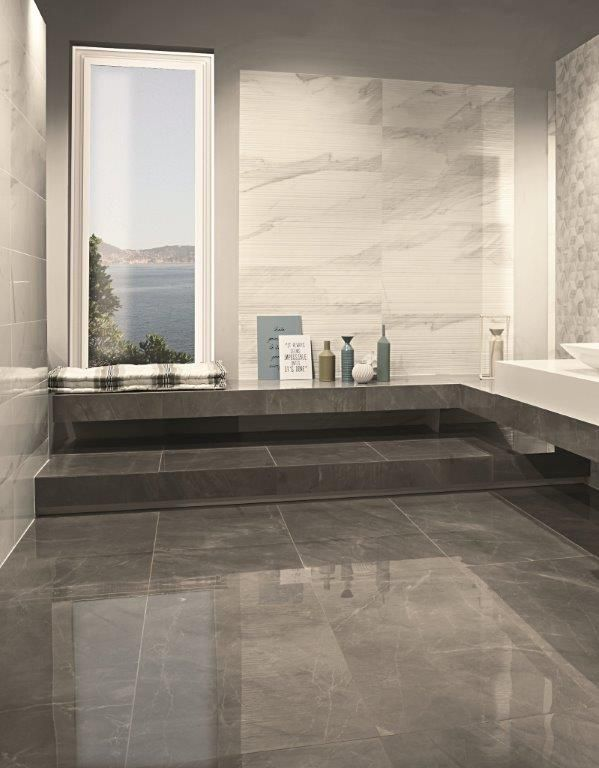 Bianco Ribbed Porcelain This Pale Faux Marble Has An Unusual Randomly Surface