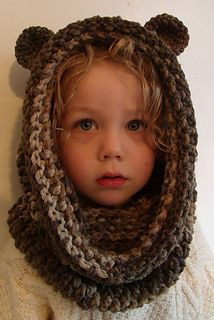 cuello con capucha bear snood crochet pattern