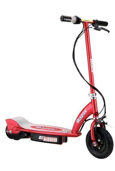 Razor E100 Motorized Electric Boys Scooter (Red) #Razor