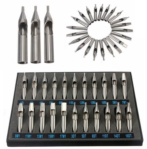 22Pcs Stainless Steel Tattoo Tips Nozzle for Needles Set Kit http://www.ebay.co.uk/itm/22Pcs-Stainless-Steel-Tattoo-Tips-Nozzle-for-Needles-Set-Kit-/302013420625?hash=item4651671451:g:QScAAOSw2zlXhpkm