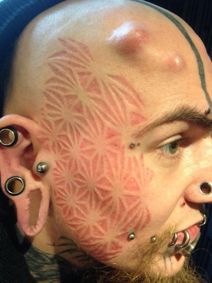 Scarification before & after | Body mods | Pinterest ...