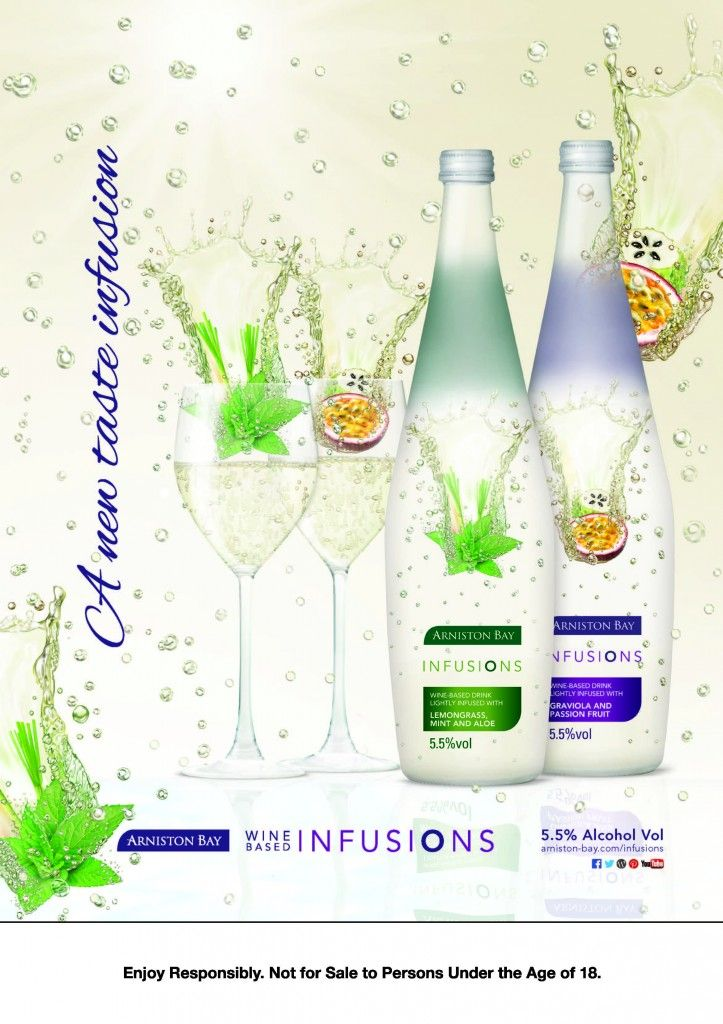 South African wine brand Arniston Bay has launched a new 5.5% wine-based  flavoured drink called Infusions