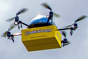 Drone delivery service planned for Australia. Australia may soon be the first country in the world to see commercial courier deliveries by drone, if a launch by a #textbook rental service and an Australian tech start-up goes according to plan.