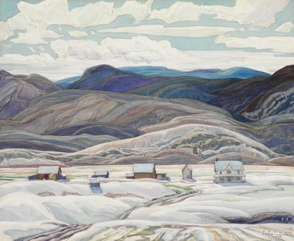 Franklin Carmichael (Canadian, Group of Seven, 1890–1945): Bissett Farm, 1933. - Google Search