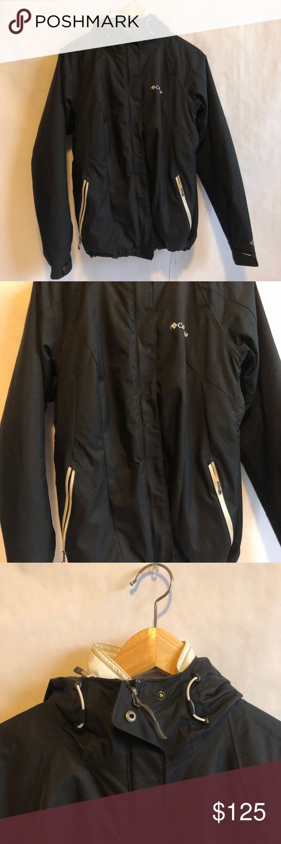 Women's Columbia interchangeable jacket (M). Pre- owned. Good condition. Warm. Worn for skiing and kept very warm. Can be taken apart and be used as a down jacket or rain jacket/wind breaker. Columbia Jackets & Coats