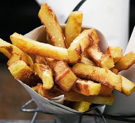 Good oven baked chips (fries if you're American). Although I would always soak them in water for 30minutes - 1 hour.