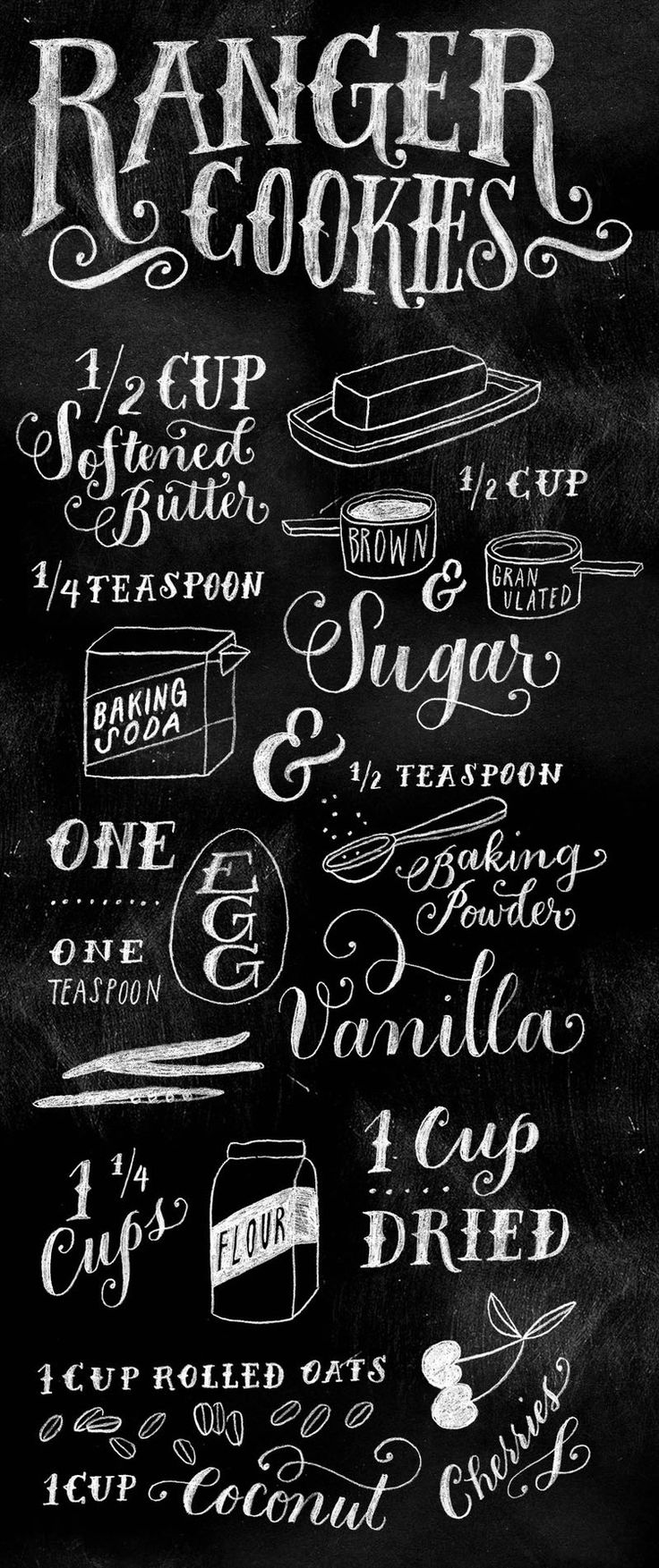 Lovely lettering + food = Yes, please