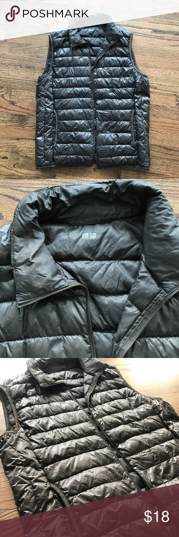 Uniqlo Light Weight Vest Dark brown color, size M, good used condition Uniqlo Jackets & Coats Vests
