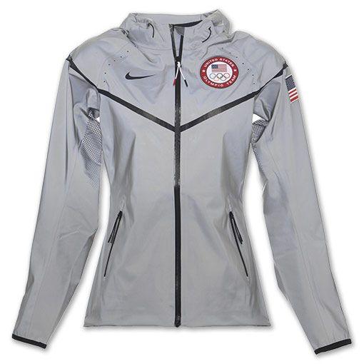 Nike USA Olympic Team Women's Windrunner Jacket| FinishLine.com | Charcoal: Need.