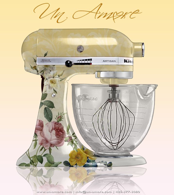 UnAmore Custom Kitchen Aid Mixers..... : Custom Kitchens, Paintings Kitchenaid, Custom Paintings, Floral Theme, Kitchens Aid Mixers, Custom Kitchenaid, Theme Custom, Kitchenaid Artworks, Kitchenaid Mixers