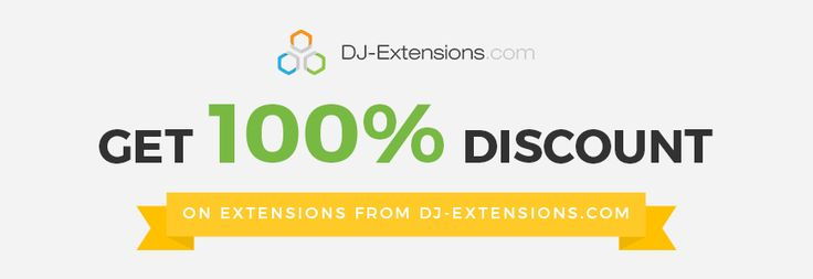 Get 100% #voucher on #extensions from DJ-Extensions!