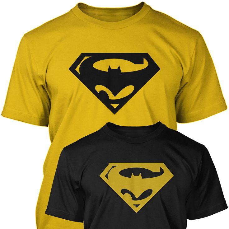 SUPERBAT - Batman & Superman Combined Logo Mens / Unisex T-SHIRT