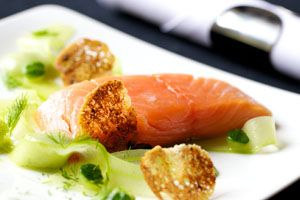 Seafood dish from Dave Watts, Cotswold House