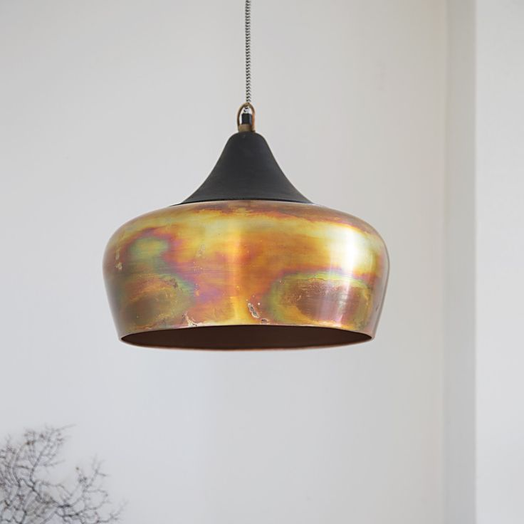 Alhambra Contemporary Ceiling Pendant in Burnished Copper - sitting room