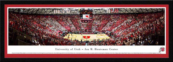 Utah Utes Basketball Panorama - Jon M. Huntsman Center Panoramic Picture - Select Frame $149.95