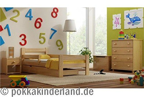 Massivholz Kinderbett Jugendbett Kinderzimmer Max 180x80 Schublade Matratze Lattenrost