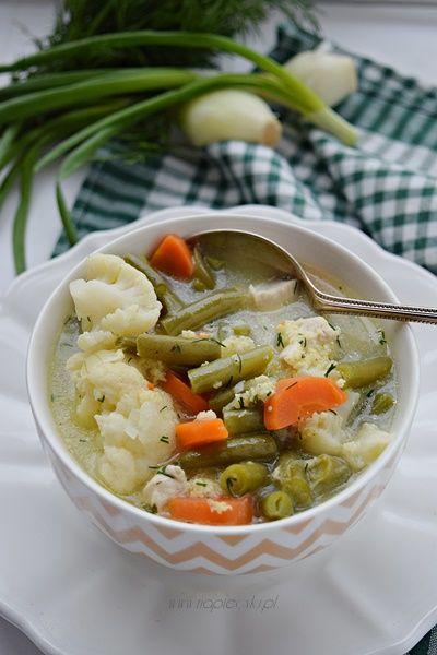 Zupa dietetyczna z warzywami i kurczakiem  Napiecyku.pl